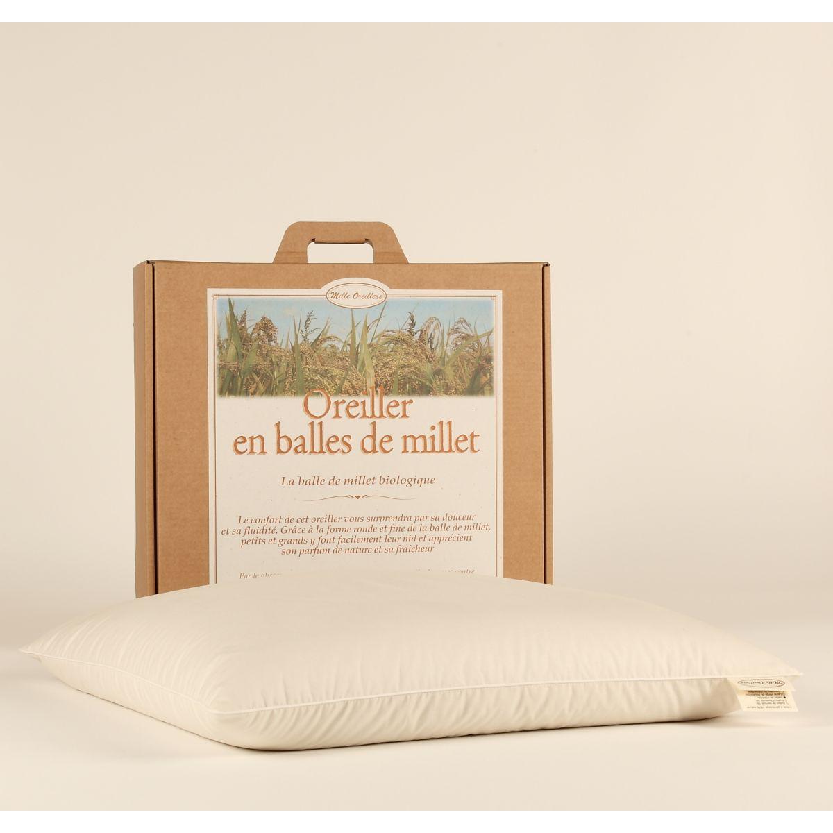 oreiller de millet 40 x 60 cm sebio. Black Bedroom Furniture Sets. Home Design Ideas