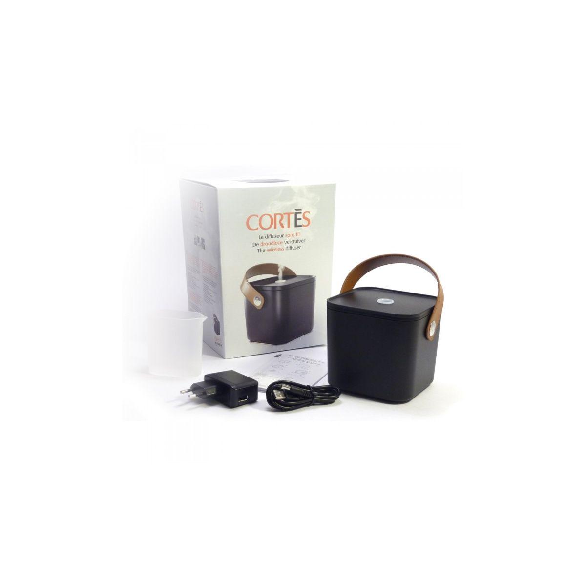 diffuseur ultrasonique d 39 huiles essentielles sans fil cortes sebio. Black Bedroom Furniture Sets. Home Design Ideas