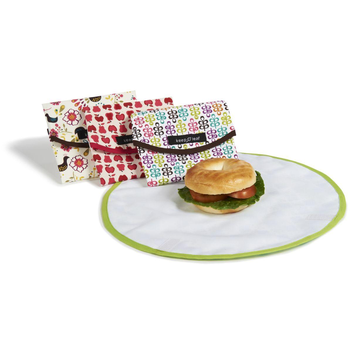 pochette r utilisable ronde pour go ters et sandwichs motif robots sebio. Black Bedroom Furniture Sets. Home Design Ideas