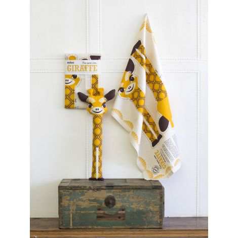 doudou diy ou linge de cuisine en coton bio girafe sebio. Black Bedroom Furniture Sets. Home Design Ideas