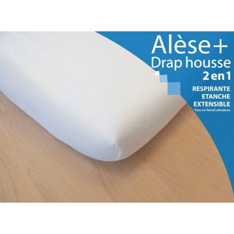 al se drap housse 2 en 1 pour lit b b 90 x 190 cm blanc sebio. Black Bedroom Furniture Sets. Home Design Ideas