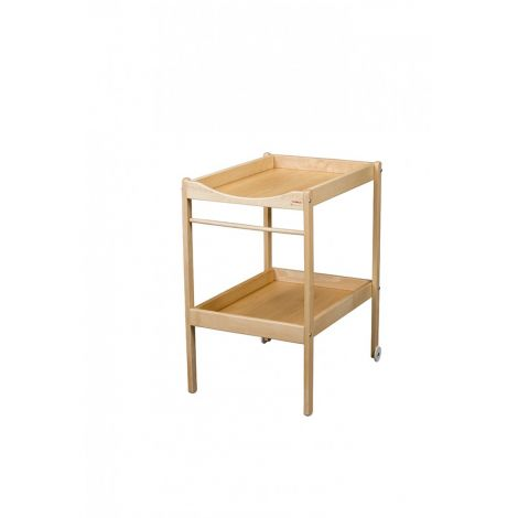 Table langer alice vernis naturel sebio - Table a langer roulettes ...