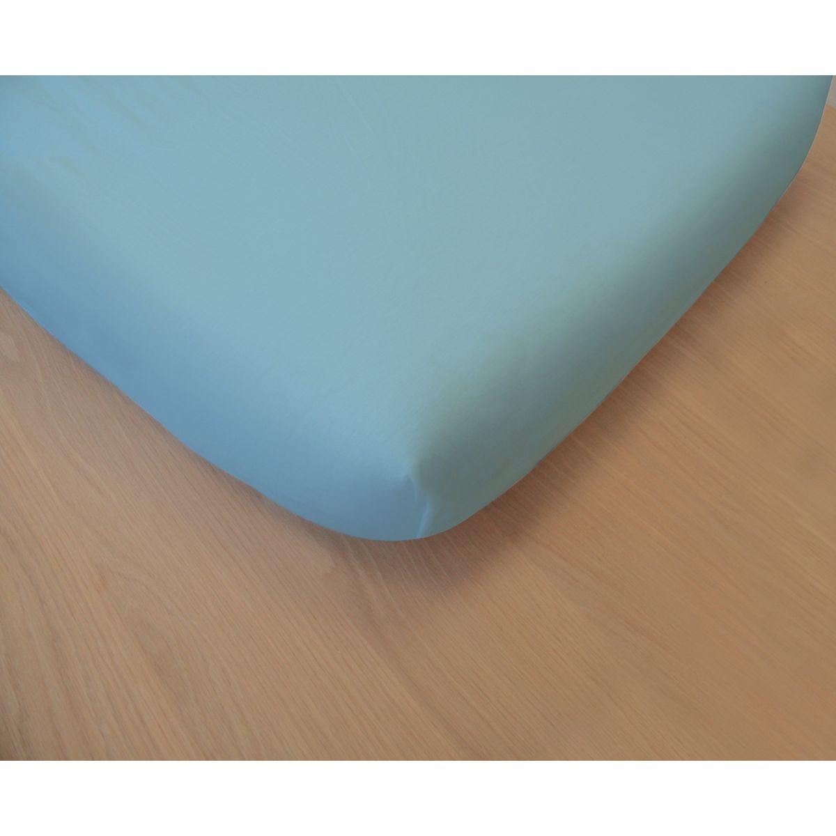 Drap housse en coton bio pour lit b b 60x120 cm sebio for Drap et drap housse
