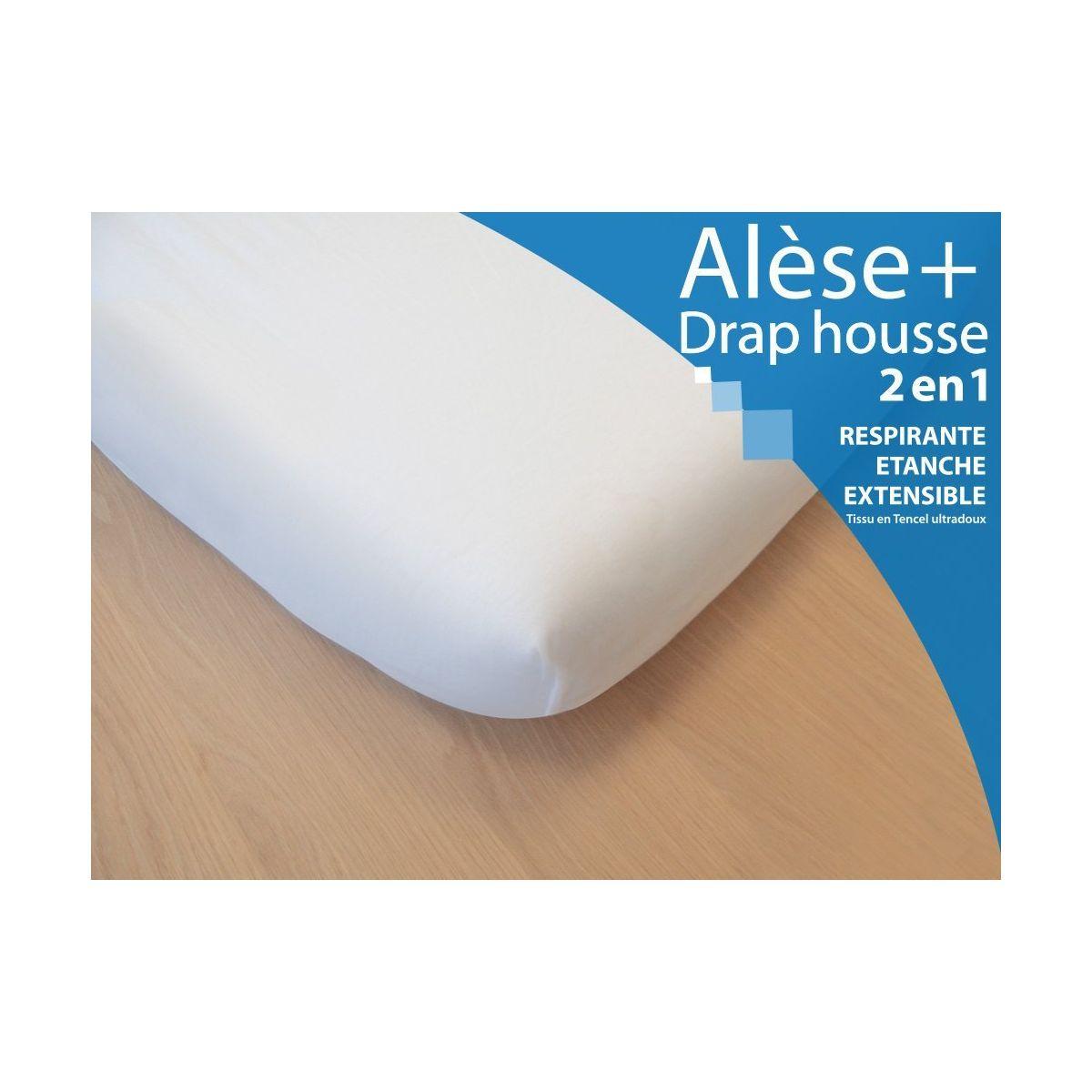 Al se drap housse 2 en 1 pour lit simple 90x200 cm sebio for Housse lit simple