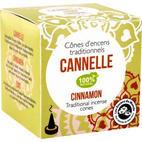 Cônes d'encens traditionnels Cannelle 100% naturel - SeBio
