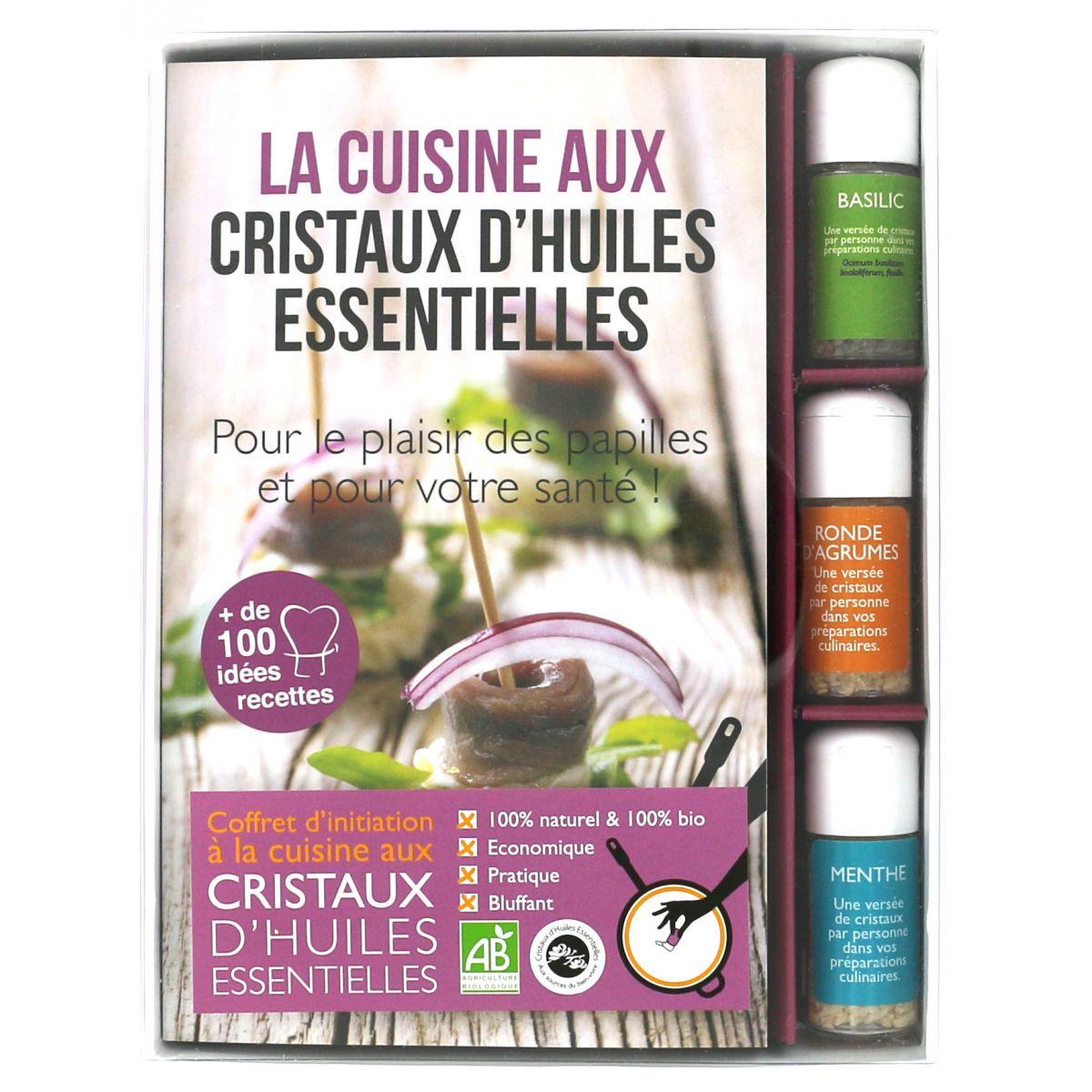 Coffret d 39 initiation la cuisine aux cristaux d 39 huiles - Huile essentielle cuisine ...