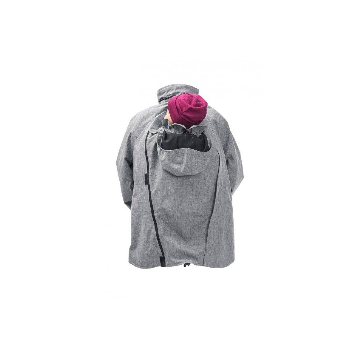 Veste de grossesse et de portage hiver gris sebio for Photo grossesse exterieur hiver