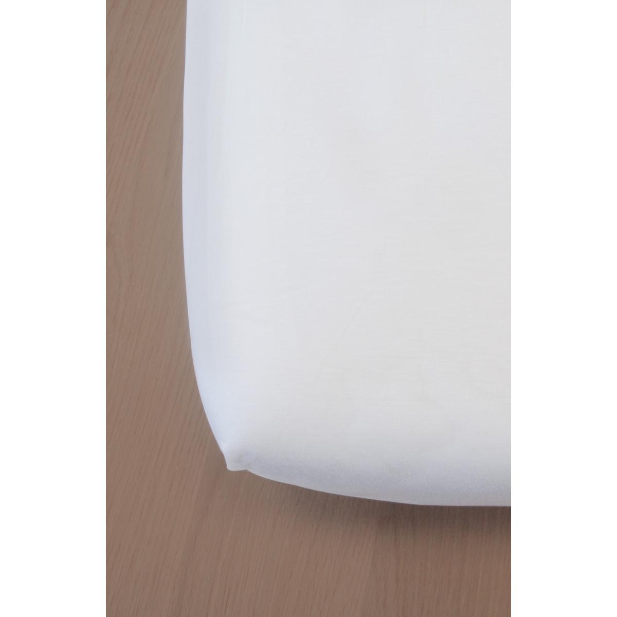 Drap housse green clim pour lit junior 90 x 200 cm blanc for Drap housse lit