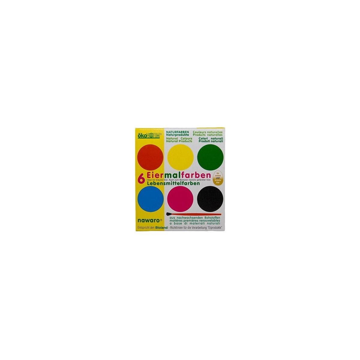 Boîte d'aquarelles naturelles - 6 couleurs - SeBio