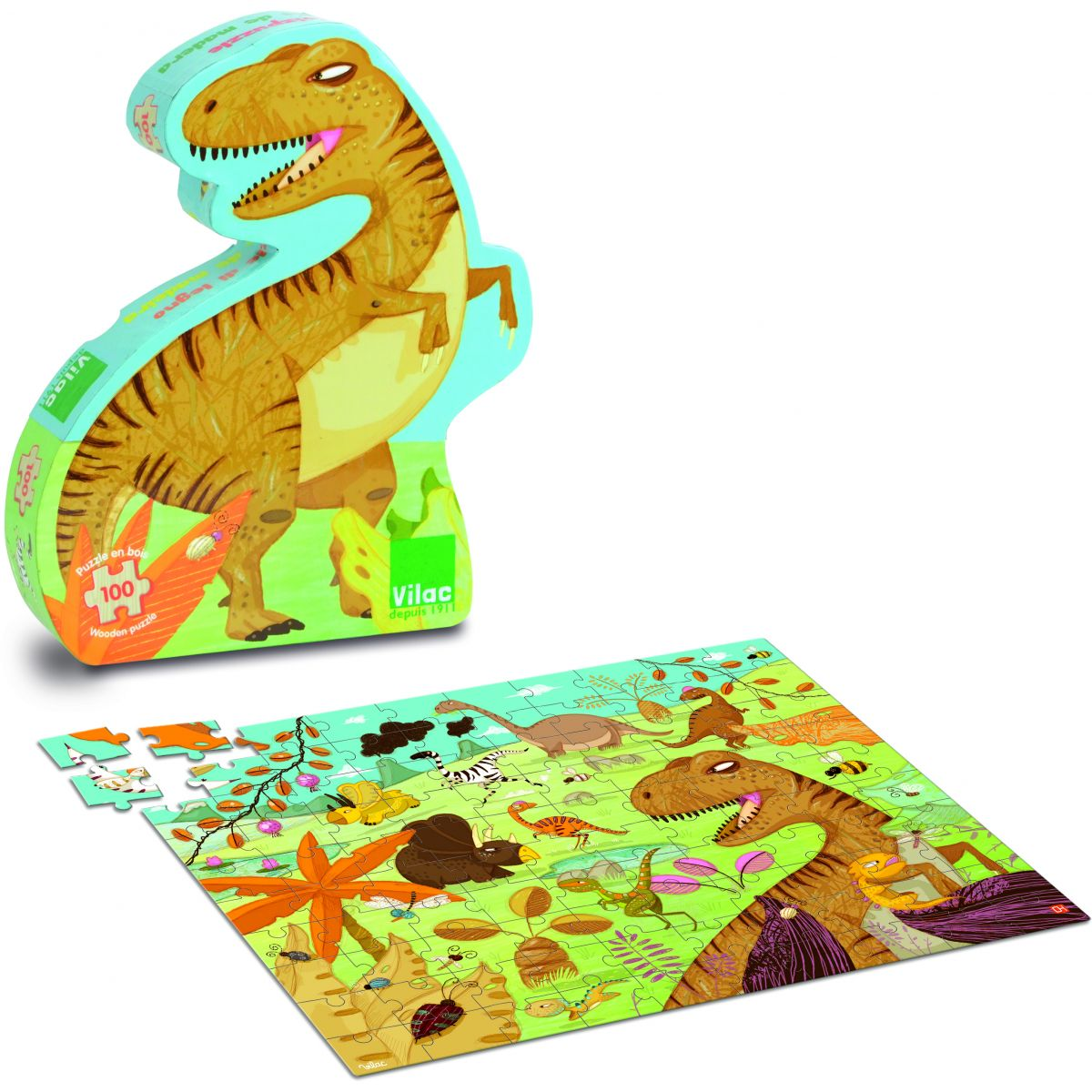 puzzle dinosaure partir de 5 ans sebio. Black Bedroom Furniture Sets. Home Design Ideas