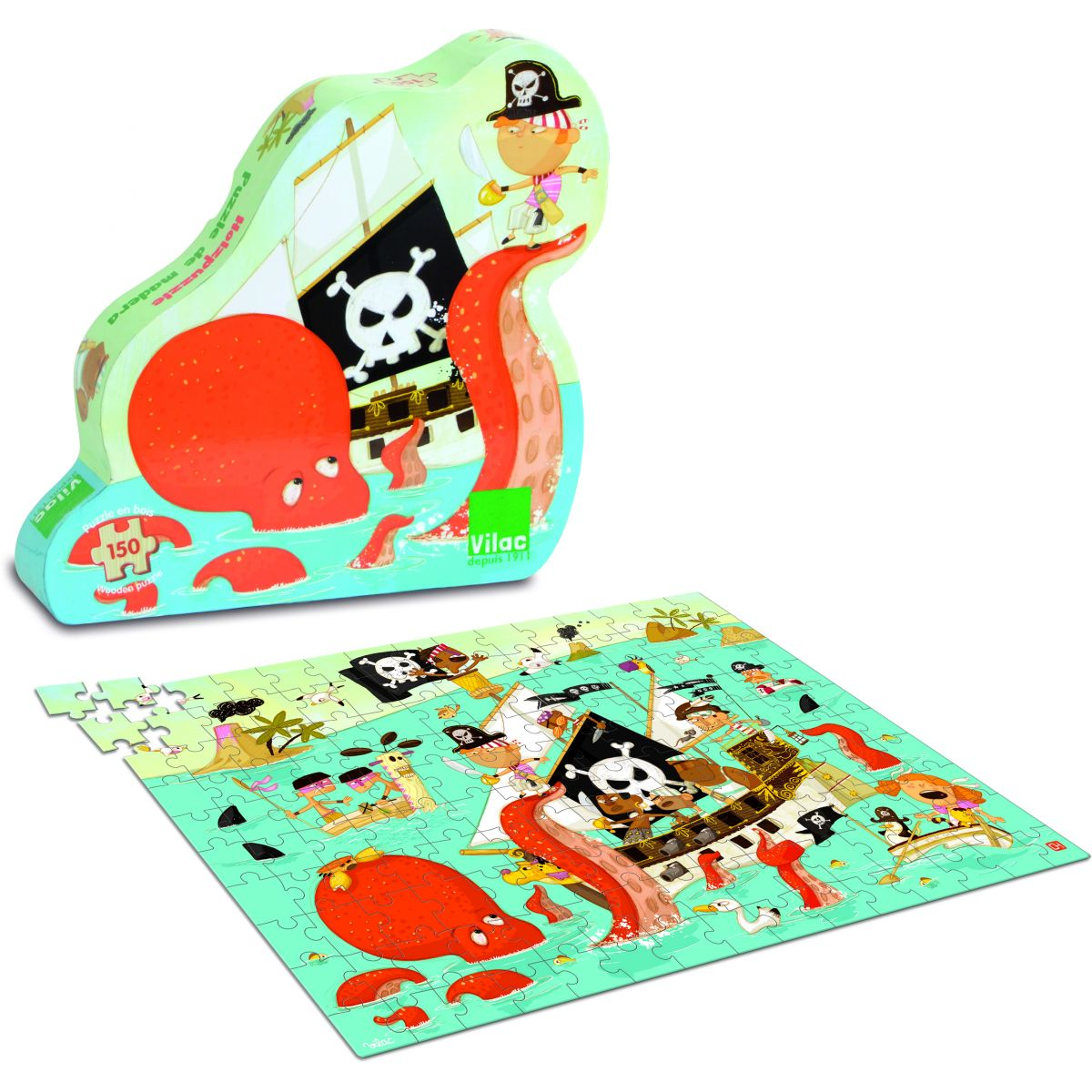 puzzle pirate partir de 6 ans sebio. Black Bedroom Furniture Sets. Home Design Ideas