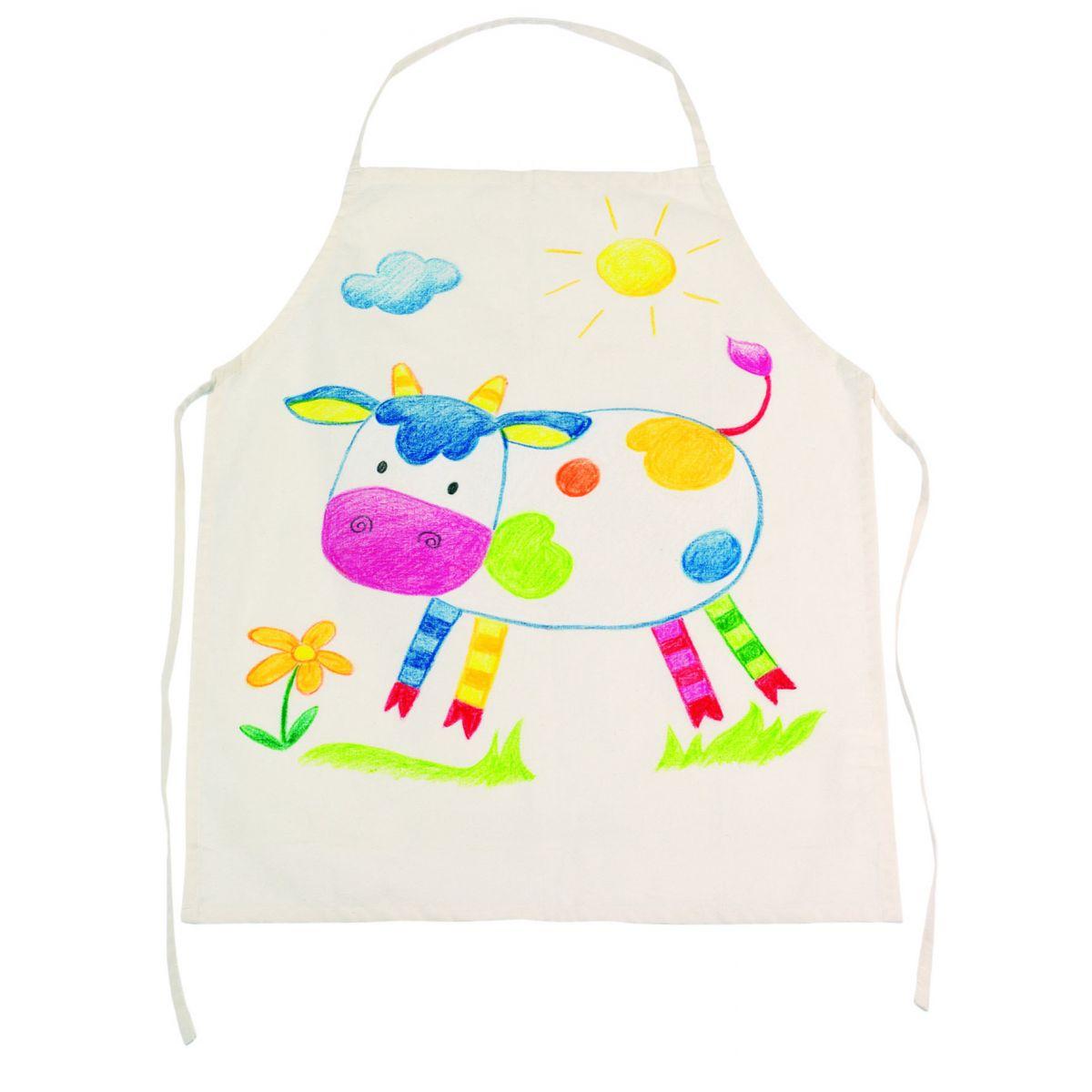 imaison  Tablier de cuisine (1Mx1M)  coton bio  Coloris Ficelle