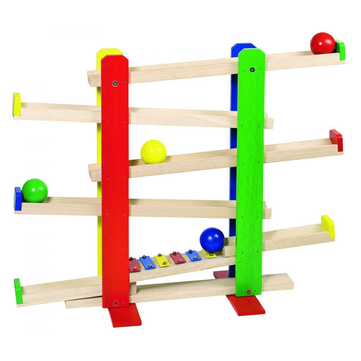 toboggan pour boules en bois avec xylophone partir de. Black Bedroom Furniture Sets. Home Design Ideas