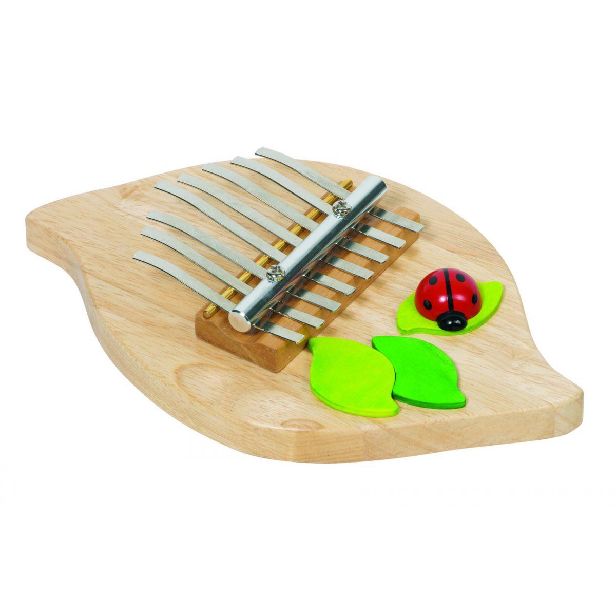 piano kalimba en bois coccinelle partir de 5 ans sebio. Black Bedroom Furniture Sets. Home Design Ideas