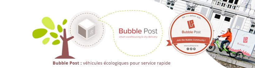 bannière livraison bubble