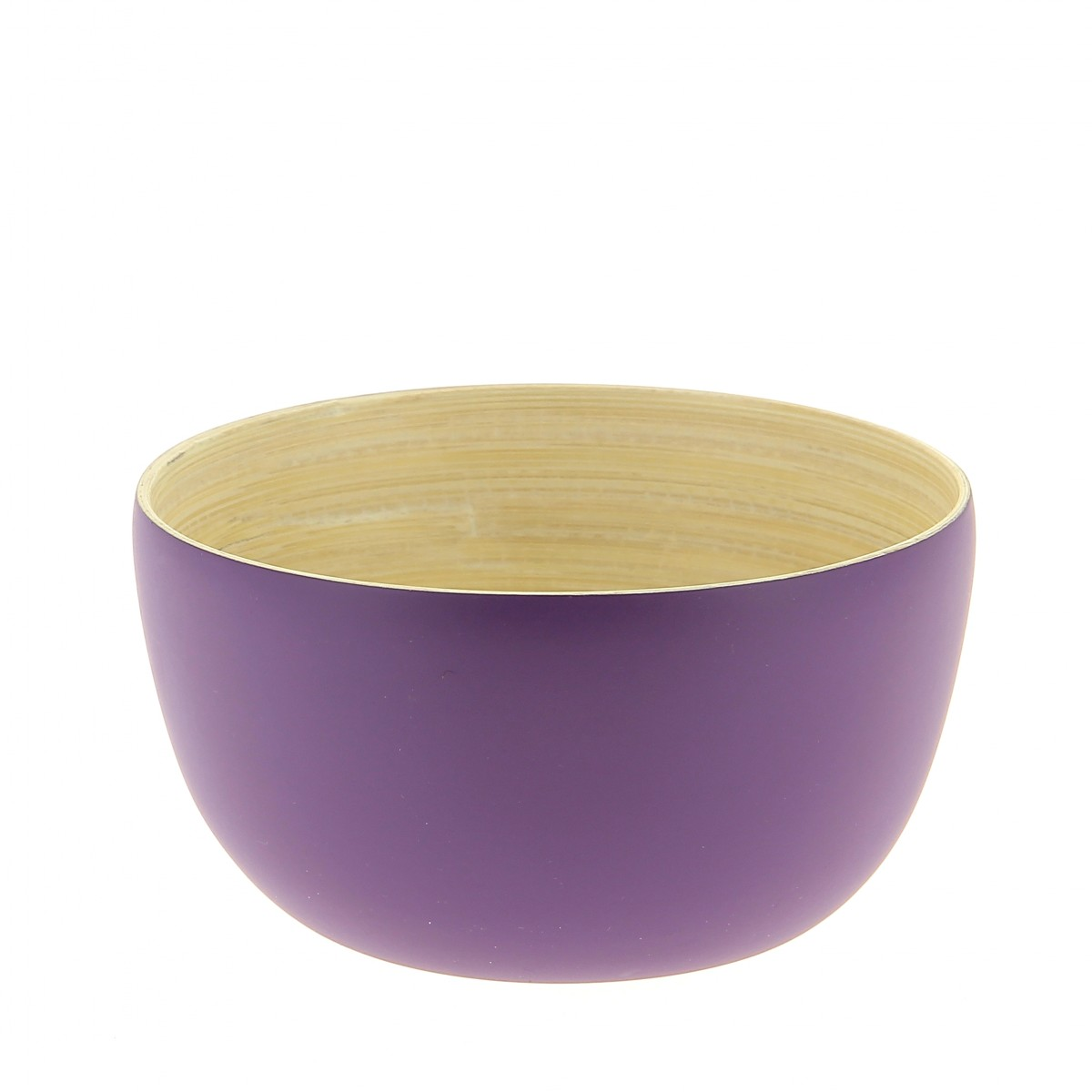 mini bol en bambou aubergine 11 cm sebio. Black Bedroom Furniture Sets. Home Design Ideas