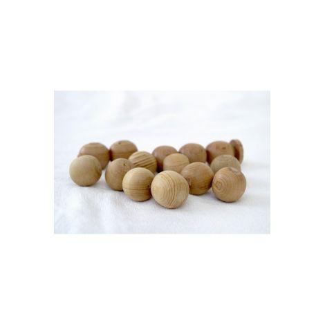Houten bolletjes anti-mijt Keding- en ladenkasten (5 bollen) - SeBio