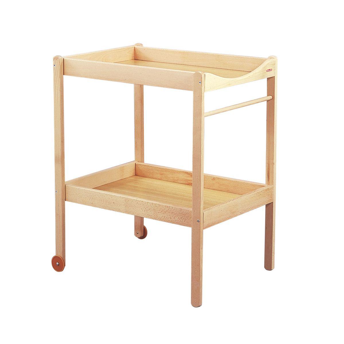 Luiertafel alice natuurlijk vernis sebio - Plan table a langer en bois ...