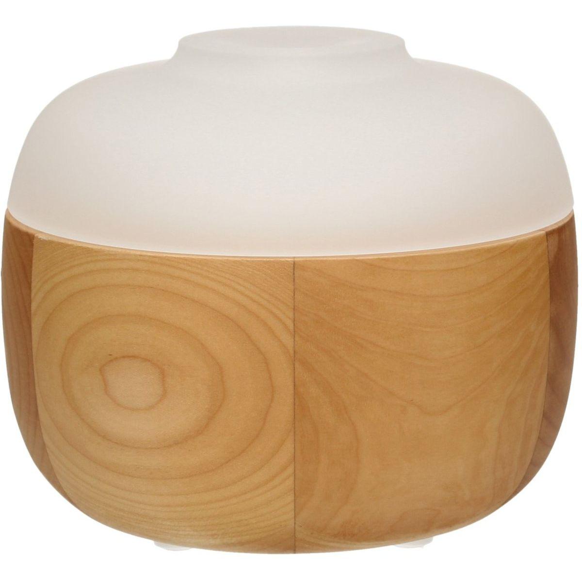 diffuseur ultrasonique d 39 huiles essentielles en bois et en verre lilien sebio. Black Bedroom Furniture Sets. Home Design Ideas