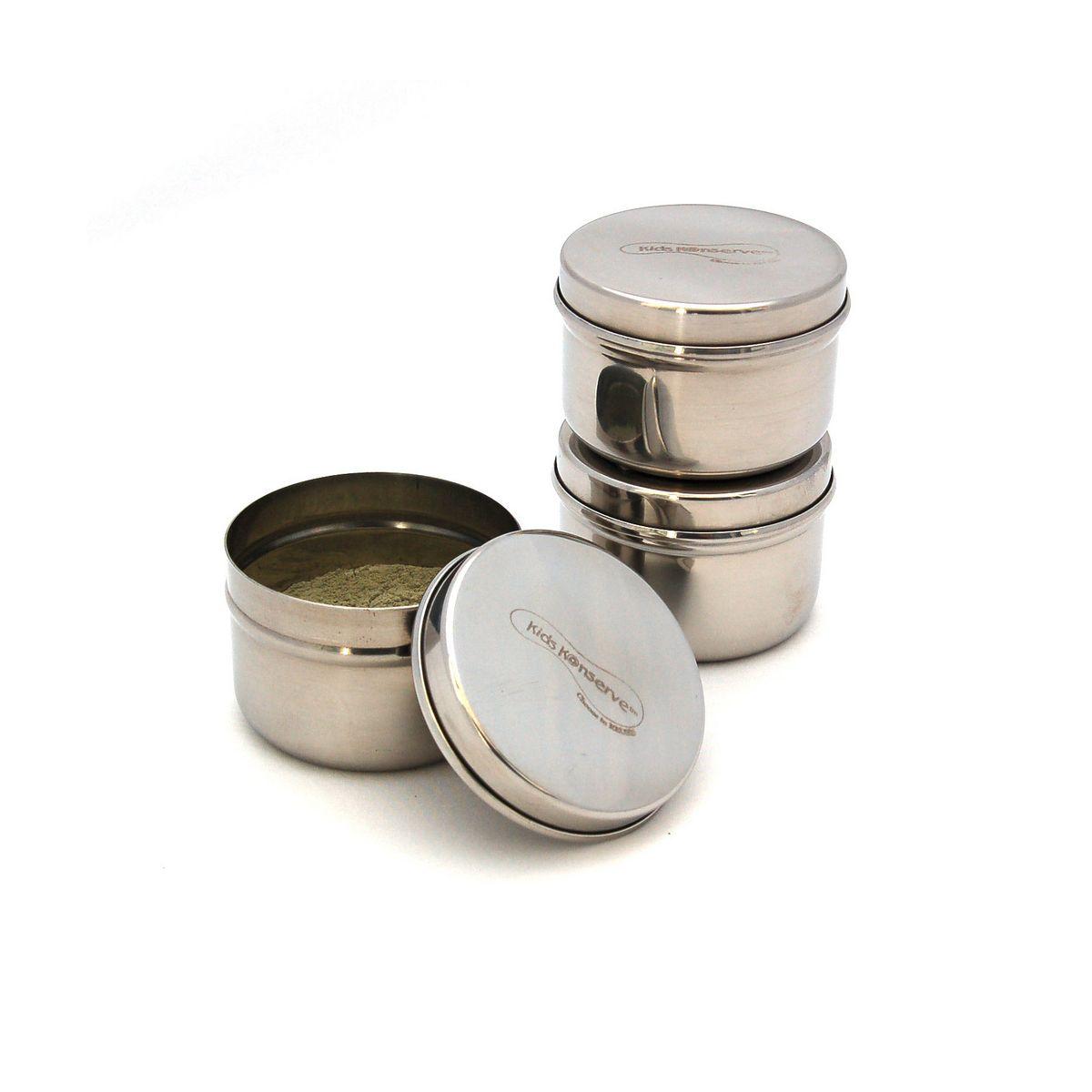 trio minis r cipients en inox pour condiments 90 ml sebio. Black Bedroom Furniture Sets. Home Design Ideas