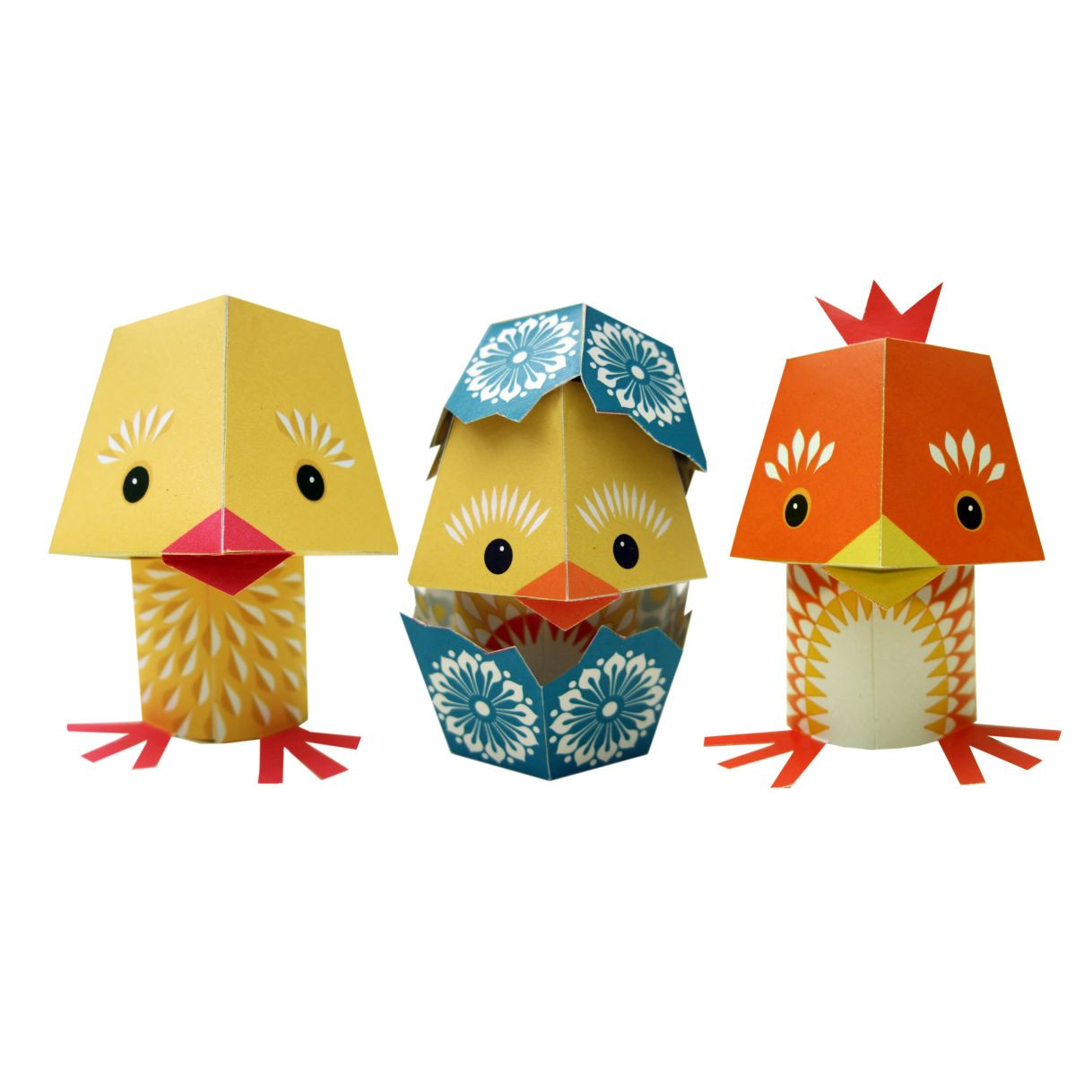 paper toys yolk folk set de bricolage 3 animaux sebio. Black Bedroom Furniture Sets. Home Design Ideas