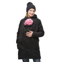 Manteau de grossesse et de portage en laine - Anthracite b8f2b9488a0