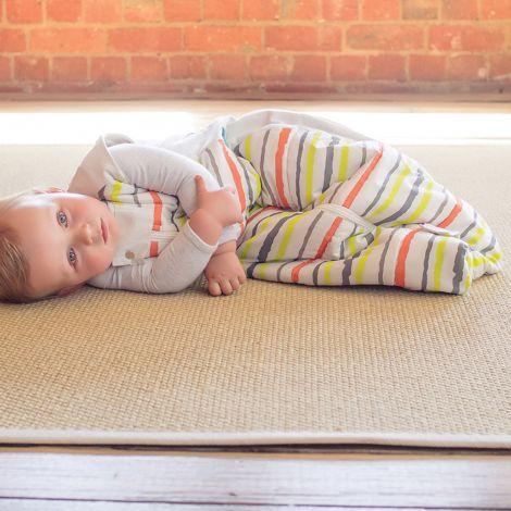 sac de couchage coton bio super pais citrus stripes tog. Black Bedroom Furniture Sets. Home Design Ideas