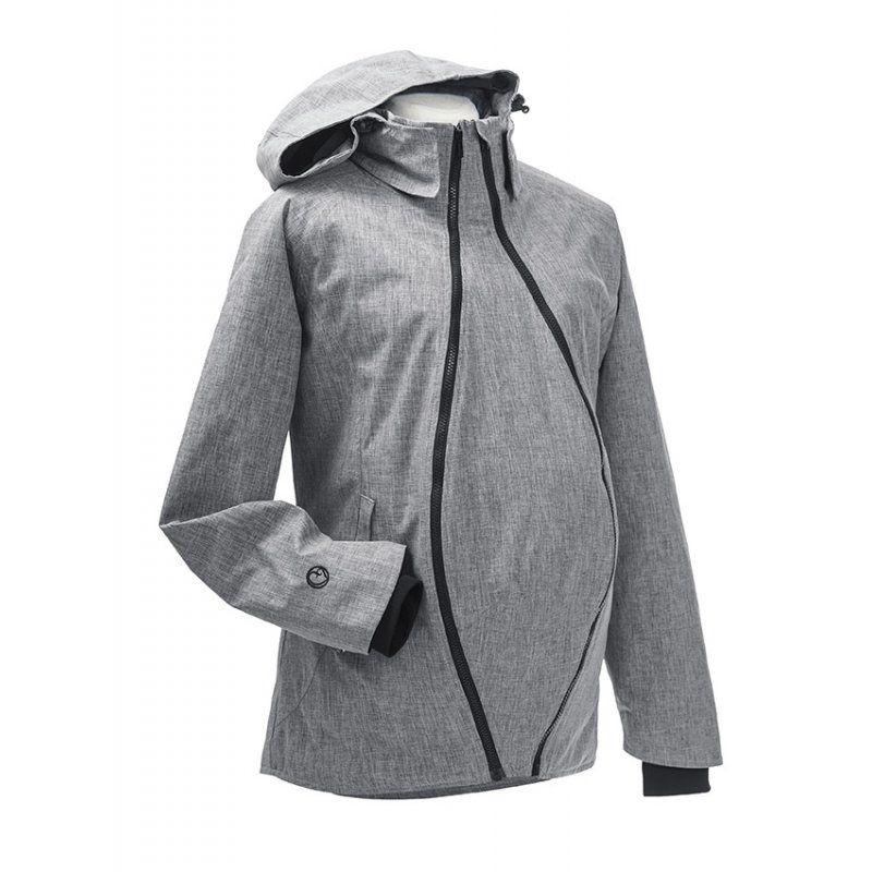 Style magnifique plutôt cool esthétique de luxe Veste de grossesse et de portage HIVER - Gris