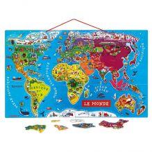 Carte du Monde magnétique - à partir de 7 ans