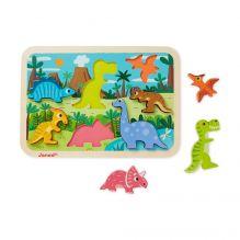 Chunky Puzzle Dinosaures - à partir de 18 mois
