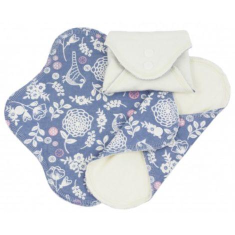 serviettes hygi niques lavables en coton bio mini garden pack de 3 sebio. Black Bedroom Furniture Sets. Home Design Ideas
