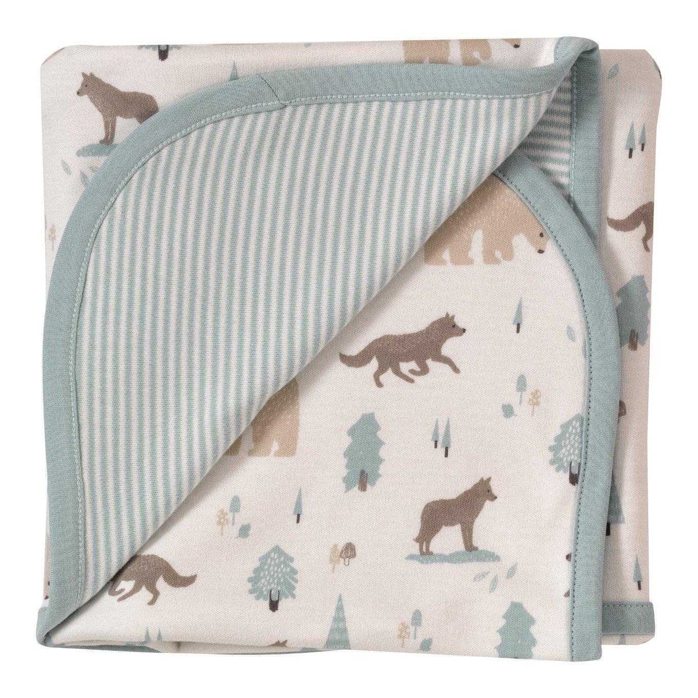 couverture polaire bébé bio Couverture en coton BIO   Loup et ours Polaire   SeBio couverture polaire bébé bio