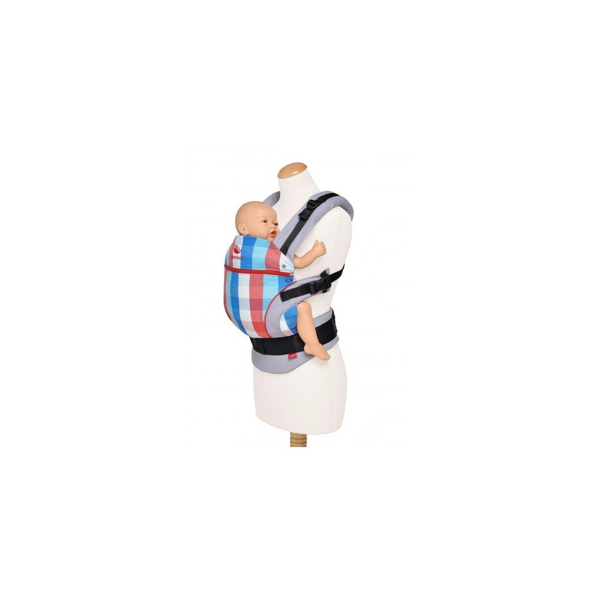 Porte-bébé édition limitée en coton BIO - Vivid Rouge   - SeBio d640296448d