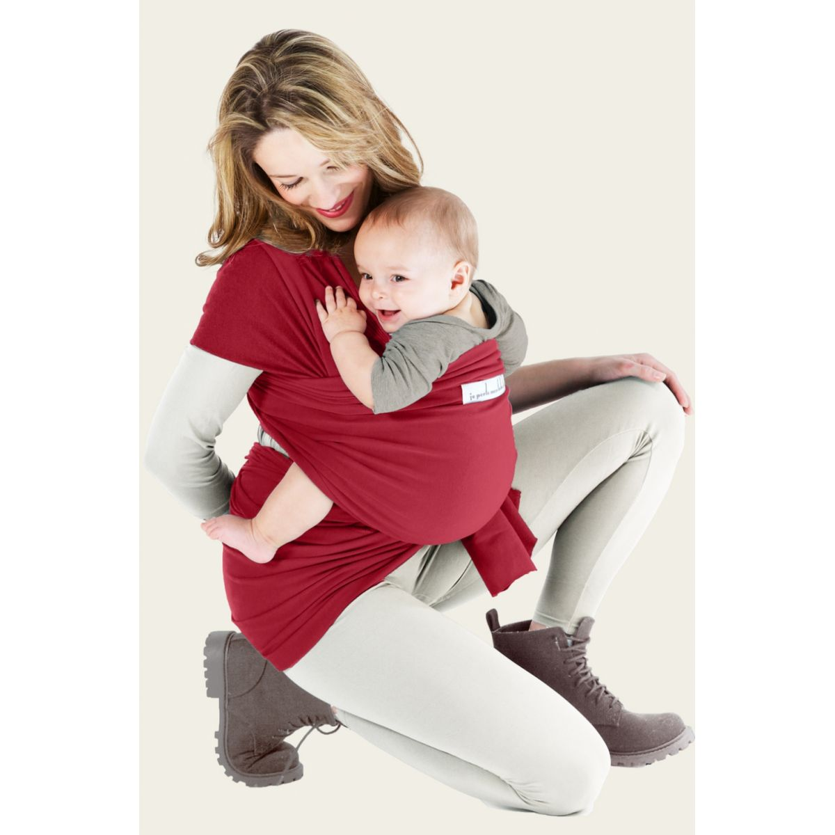 echarpe porte b b basic rouge carmin sebio. Black Bedroom Furniture Sets. Home Design Ideas