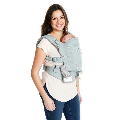 Porte-bébé physiologique préformé Flexia - Gris clair - SeBio 9df479f060e