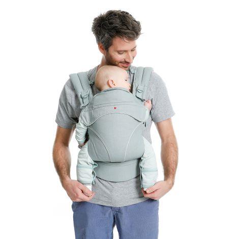 Porte-bébé physiologique préformé Flexia - Gris clair - SeBio 10a9e82dde1