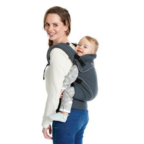 Porte-bébé physiologique préformé Flexia - Gris foncé - SeBio 455fdf6345c