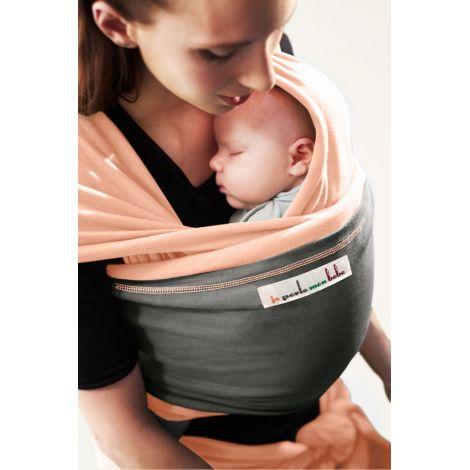Echarpe porte-bébé - Nude ensolleillé et Eléphant - SeBio 3cda120b744