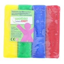 Plasticine / pâte à modeler 4 couleurs 400 g