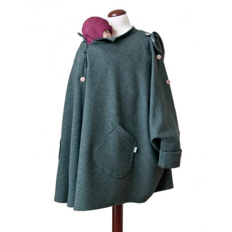 Poncho de maternité en laine Anthracite   - SeBio 6960fbf17dc