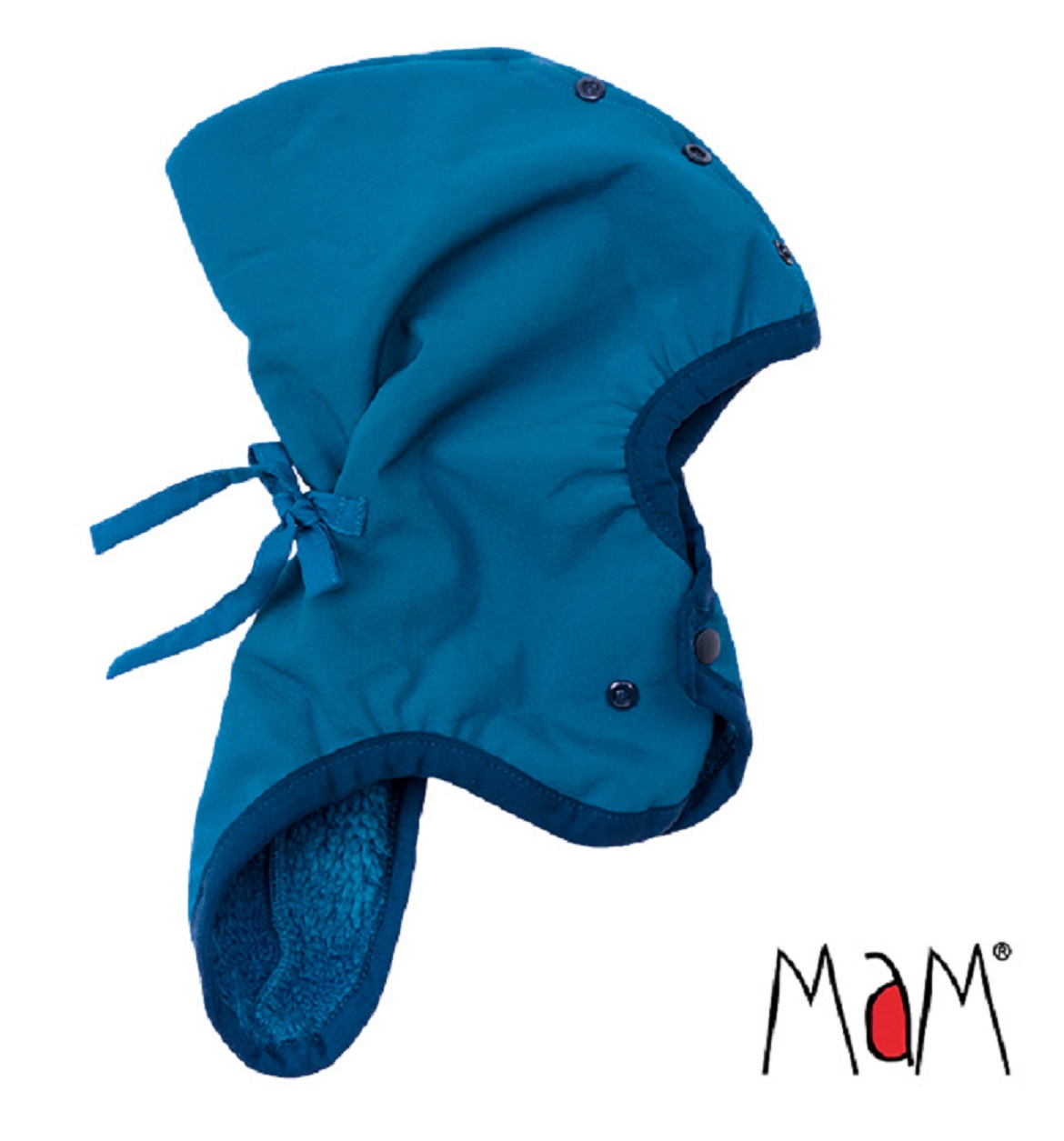 b7606e17764d6 Bonnet lutin / cagoule chaude ajustable 0 / 2 ans Mykonos - SeBio