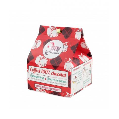 Coffret cosmétique solide 100 % chocolat