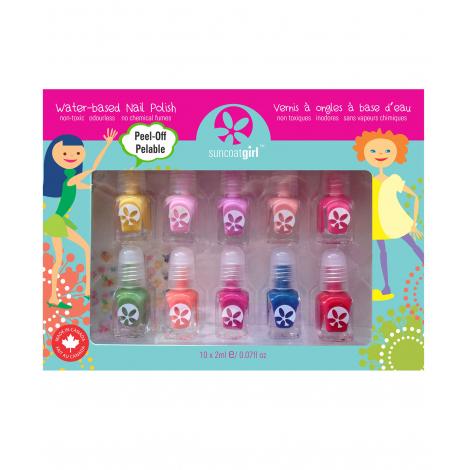set de 10 minis vernis ongles pour enfant partir de 3 ans sebio