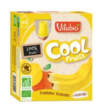 Cool Fruits - Pomme Banane - Lot de 4 Gourdes