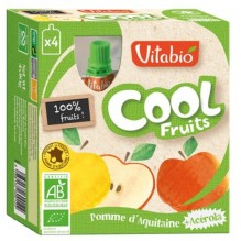 Cool Fruits - Pomme - Lot de 4 Gourdes