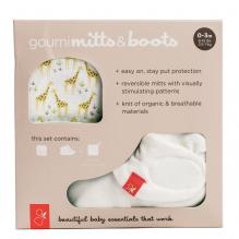 Moufles et chaussons souples en matières Bio et respirantes 0/3 mois