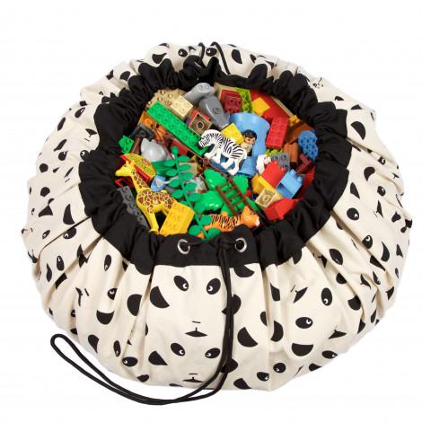 Sac de rangement et tapis de jeu (2 en 1) Play&Go - Panda designer collection