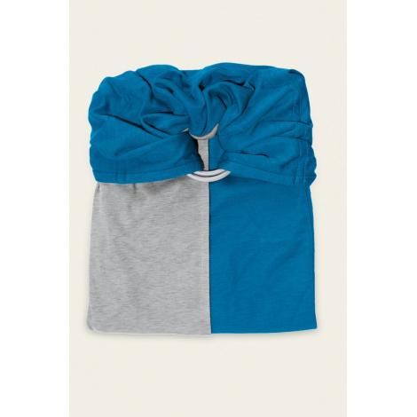 Petite écharpe sans noeud  gris chiné   bleu canard SANS PAD - SeBio 0964af4106c