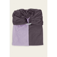 Petite écharpe sans noeud: lavande / marron glacé SANS PAD