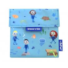 Porte casse-croûtes lavable et réutilisable Snack'n'Go - Kid Blue